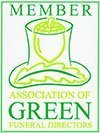 association of green funeral directors logo