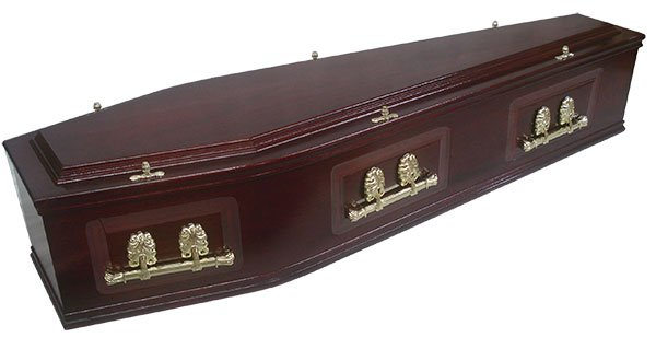Mahogany Veneer Coffin
