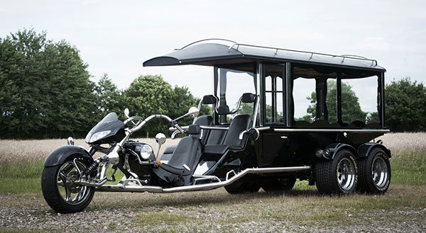 trike with hearse
